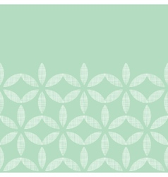 Abstract textile mint green leaves geometric vector image
