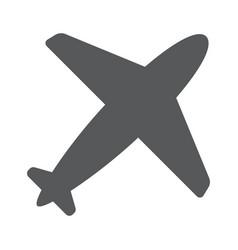 airplane symbol travel icon flat design eps 10 vector image vector image