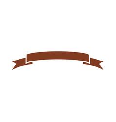Decorative scroll ribbon banner decoration icon vector