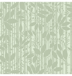 green plant silhouette stripes vector image