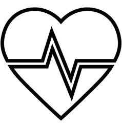 heartbeat line icon vector image