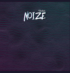 sound noize waves vector image vector image