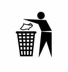 trash symbol vector image vector image