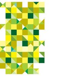 Triangle green tricolour vector image