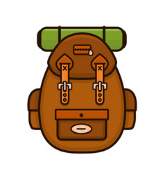 vintage hipster camping backpack vector image