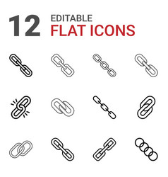 12 hyperlink icons vector image