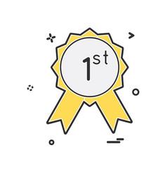 1st badge icon design vector image