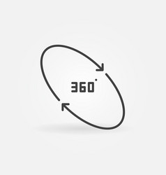 360 degrees concept simple icon in thin vector