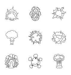A set of icons about the explosion various vector