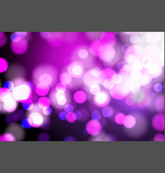Abstract pink and blue blurred light bokeh lights vector