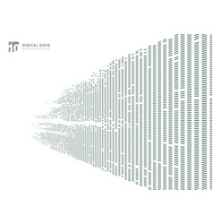 Abstract technology digital data square gray vector
