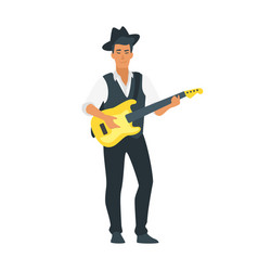 acoustic guitar musician vector image