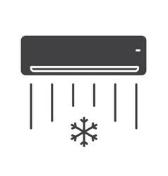 Air conditioner glyph icon vector