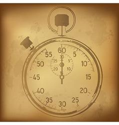 Antique stopwatch vector