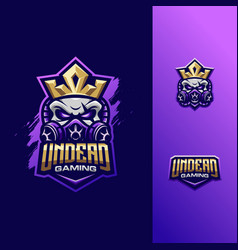 awesome skull king logo sport vector image