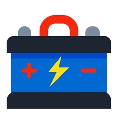 Battery accumulato isolated vector image