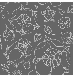 beautiful floral pattern vector image