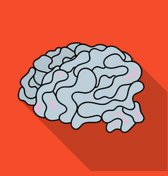 Brain in the virtual reality icon in flate style vector