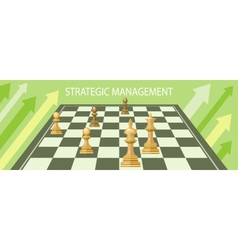 Business strategic management vector