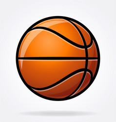 Cartoon stylized basketball vector