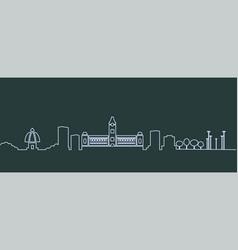 Chennai single line skyline vector