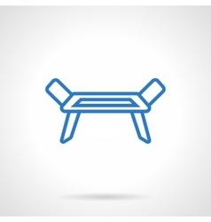 Clotheshorse blue line icon vector image