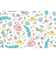 Colourful summer pattern vector