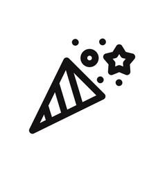confetti iconsurprisecelebration symbol flat sign vector image