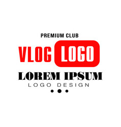 Creative logo for web television vlog or video vector