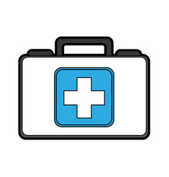 Cute medical bag cartoon vector