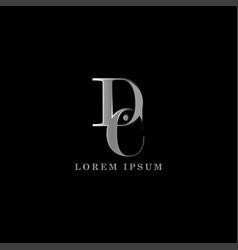 Dc letter logo template graphic design vector