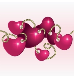 Decoration to the Valentines day vector image
