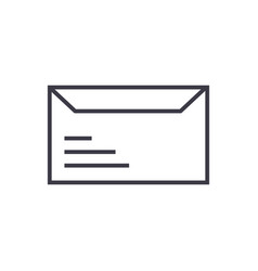 envelope line icon sign vector image
