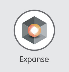 Expanse cryptocurrency - colored logo vector
