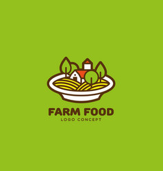 farm food logo vector image