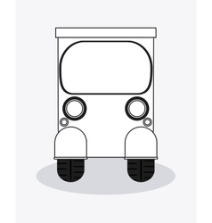 Flat about rickshaw design vector image