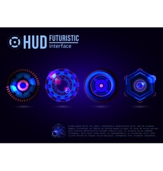 Futuristic HUD interface elements vector image