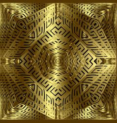 Gold 3d greek seamless pattern modern abstract vector