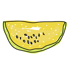golden watermelon on white background vector image