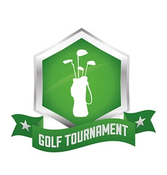 golf club vector image