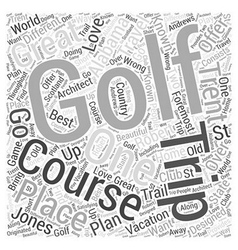 Golf Trip Word Cloud Concept vector
