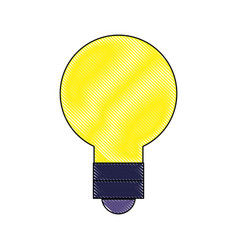 grated light bulb energy object style vector image