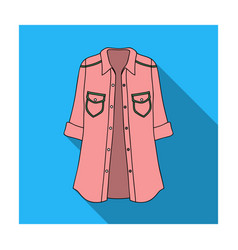 Green women s jacket with buttons and short vector