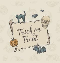 Happy halloween trick or treat banner vector