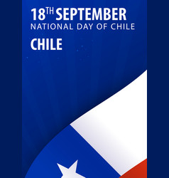 independence day of chile flag and patriotic vector image