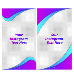 instagram story template vector image