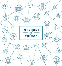 Iot internet things smart home quality design vector