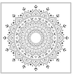 islamic mandala for coloring vector image