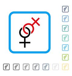 lesbian love symbol framed icon vector image