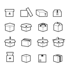 Line box icons vector